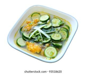 Zucchini Soup with ground shrimp Vietnamese cuisine