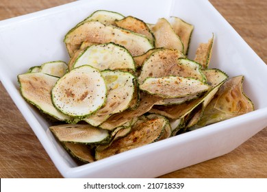 zucchini squash thin chips baked in oven