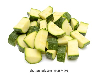 zucchini vegetables isolated on white