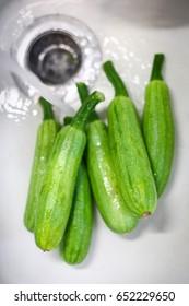 Zucchini washed