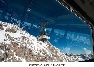 Zugspitze, Germany in March 2017 - Cable Car to the Zugspitze summit