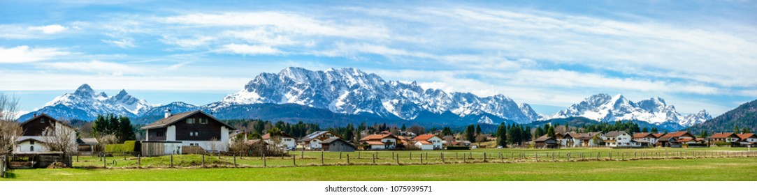 zugspitze mountain - european alps - germany