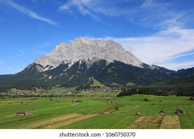 Zugspitze mountain in the Tirolean alps of Austria