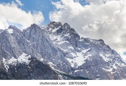 Zugspitze Panorama Garmisch-Partenkirchen Bavaria Germany.