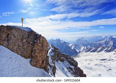 Zugspitze top of Germany