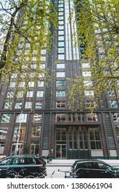 Zuidas in Amsterdam, Modern office buildings in Amsterdam, Gustav Mahlerlaan Amsterdam 2019