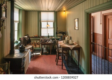 Zuiderzee museum, Enkhuizen, The Netherlands - May 9, 2019 : The interior of a typical old village house in Holland