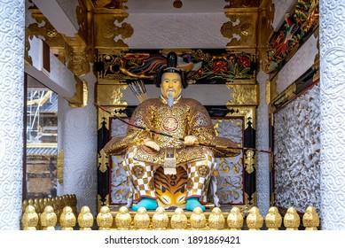 Zuijin guardian statue on Yomeimon Gate of the Toshogu Shrine, Nikko, Japan. - Shutterstock ID 1891869421