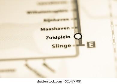 Zuldplein Station. Rotterdam Metro map.