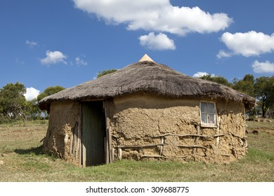 Zulu hut in rural village