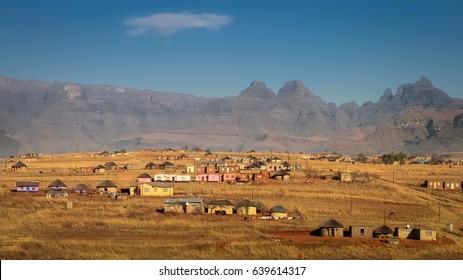 Zulu village in Drakensberg