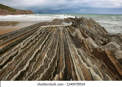 Zumaia geology special coast, the famous Flysch Coast in Northern Spain