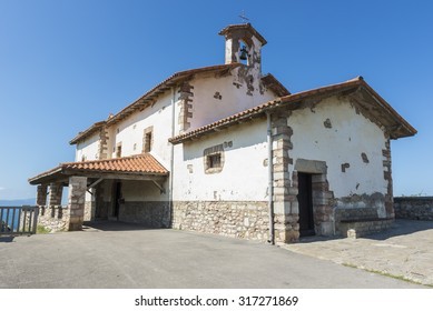 ZUMAIA, SPAIN - SEP 8: Chapel of San Telmo on September 8, 2015 in Zumaia, Basque Country, Spain.