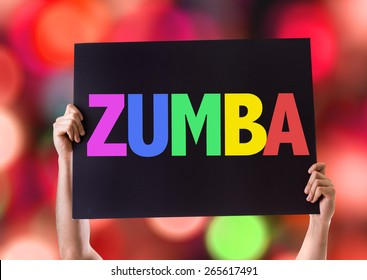 Zumba card with bokeh background