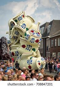 ZUNDERT 2017, THE NETHERLANDS - SEPTEMBER 3: The flowercorso of Zundert - Hamlet Poteind - Boerenbont