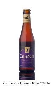 "Zundert Trappist Beer Bottle Isolated White Background  ""illustrative editorial"""