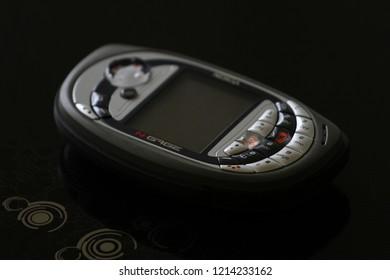 Zurich, CH - October 28, 2018: Nokia N-Gage QD vintage Symbian handheld game phone / console
