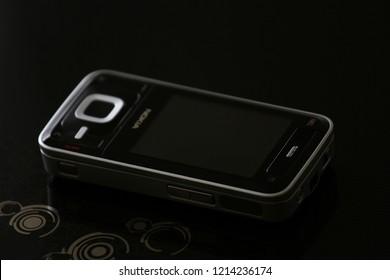 Zurich, CH - October 28, 2018: Nokia N81 N-Gage 2.0 vintage Symbian phone