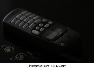 Zurich, CH - October 28, 2018: Nokia 1610 vintage GSM phone released in 1996