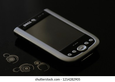 Zurich, CH - October 28, 2018: Dell Axim X50 vintage Windows Mobile smartphone PDA released in 2004