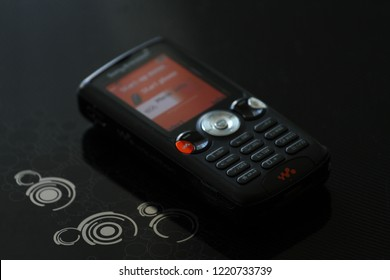 Zurich, CH - October 28, 2018: Sony Ericsson W810 vintage Walkman music / camera phone released in 2006