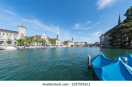 Zurich city centre with the River Limmat