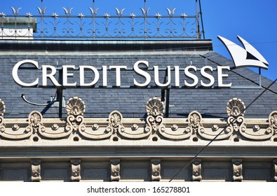 ZURICH - JANUARY 10:Credit Suisse is the second-largest Swiss bank. Credit Suisse is selling its exchange-traded fund business to U.S. rival BlackRock Inc. January 10, 2013 in Zurich, Switzerland