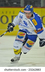 ZURICH - JANUARY 13, 2009: ZSC Lions vs. Kloten Flyers 5:1 - Marcel Jenni in action, during game valid of the qualification phase of the NLA (Swiss National League A), won by the ZSC Lions.