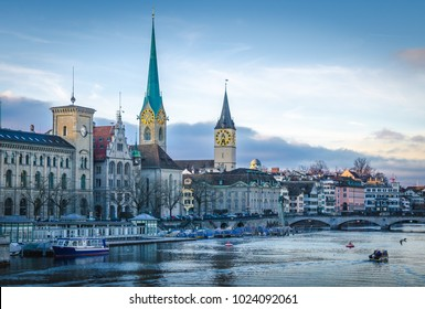 Zurich Lake and town