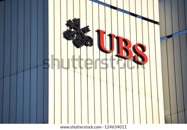 ZURICH - NOVEMBER 1: UBS, Switzerland's largest bank. Swiss bank UBS to cut 10 000 jobs as it ends some trading operations, trims investment banking. November 1, 2012 in Zurich, Switzerland