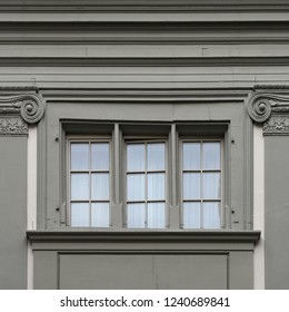 Zurich, Swiss Confederation 2018: Window of an ancient building.