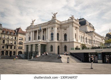 Zurich, Switzerland - 11.14.2018: Zurich Opera House located at the Sechselautenplatz square, it has been the home of the Zurich Opera since 1891.