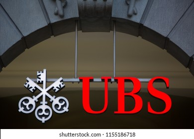 ZURICH, SWITZERLAND, 27 March 2014: UBS, Switzerland's largest bank.