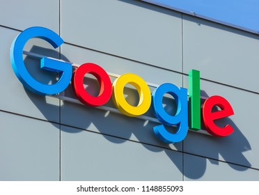 Zurich, Switzerland - April 20, 2016: sign on the wall of a Google office building. Google is a multinational technology company specializing in Internet-related services and products.