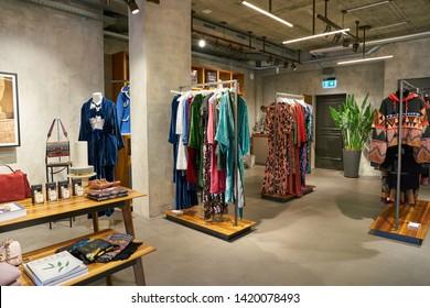 ZURICH, SWITZERLAND - CIRCA OCTOBER, 2018: interior shot of Maison Gassmann store in Zurich.