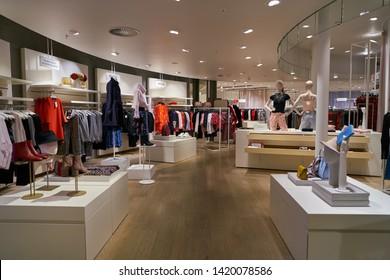 ZURICH, SWITZERLAND - CIRCA OCTOBER, 2018: interior shot of a store in Zurich.
