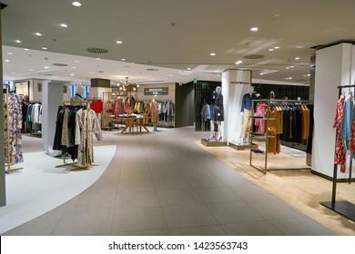 ZURICH, SWITZERLAND - CIRCA OCTOBER, 2018: interior shot of Jelmoli department store in Zurich.