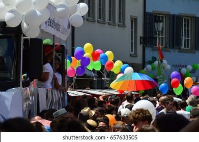 ZURICH, SWITZERLAND - JUNE 11, 2017: Zurich Pride Parade
