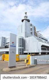 ZURICH, SWITZERLAND – MARCH 17, 2020: Swisscom Data Center Herdern in Zurich. Swisscom is the largest GSM operator of Switzerland