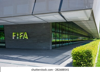 Zurich Switzerland - May 28 2015. FIFA head office building, disigned by Tilla Theus and Partner AG