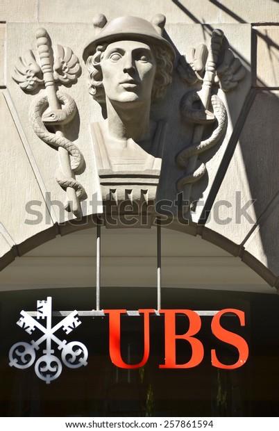 Zurich Switzerland November 1 2012 Ubs Stock Photo (Edit Now
