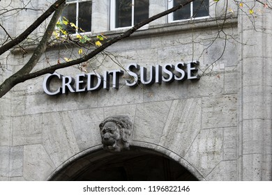 ZURICH, SWITZERLAND --October 26, 2013. Credit Suisse in the Swiss financial center of Zurich city. Credit Suisse is the second-largest Swiss bank.