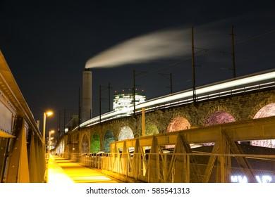Zurich Viaduct at Night