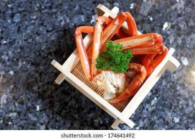 Zuwai Kani or Zuwai crab, famous crab from Hokkaido, Japan