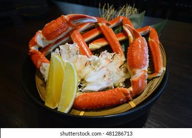Zuwai Kani or Zuwai crab, famous steam crab from Hokkaido, Japan
