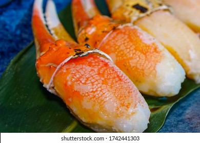 Zuwai Kani or snow claw grilled on a plate It's Japanese food