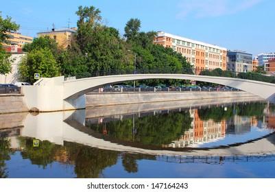 Zverev bridge in Moscow, Russia
