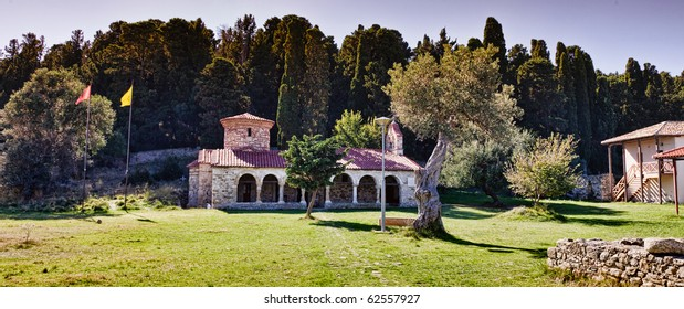 Zvernec Monastery, Vlora, Albania. Zvernec Monastery is a most important cultural monument in the area of Narta. It was built in the 13th century in Byzantine style and was dedicated to Saint Maria.