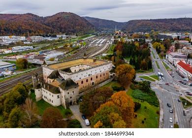 Zvolen Castle during autumn, Slovakia - Shutterstock ID 1844699344