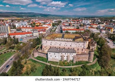 Zvolen Castle and Namestie SNP, Slovakia - Shutterstock ID 1969744717
